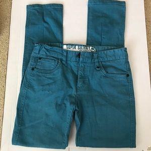 Other - Shaun White boys turquoise jeans sz 14 skinny